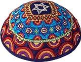 Judaica Jewish Yair Emanuel Star of David Multi Color Embroidered Kippah Kippa