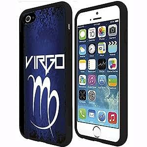 Blue, Black, White Virgo Horoscope Rubber Snap on Phone Case (iphone 6 4.7 )