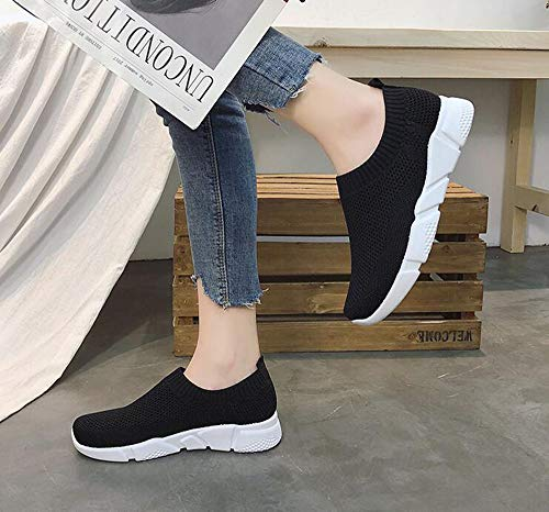Casual Color Black Winter Shoes Ventilation Shoes Sports Running Gym Women's Fashion Autumn Hellomiko Solid Shoes g6qnx8AXwH