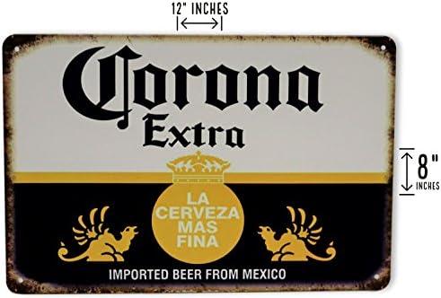 Amazon.com: Corona Beer Man Cave Decor Extra Metal Sign La ...