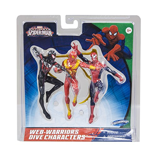 SwimWays Marvel Spider-Man Dive Characters Action Figure -3-Pack
