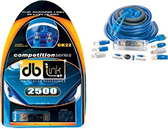 db Link CK2Z 2 AWG Competition Series Amplifier Installation Kit (Blue) DB Research L.L.P.