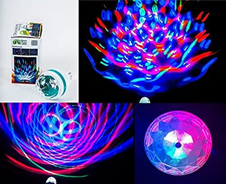 E rgb luce disco rotante party luce led party illuminazione
