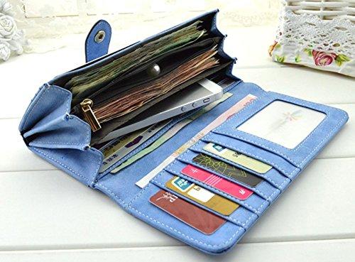 Donalworld Men Bifold Receipt Rredit Card Holder Short Wallet