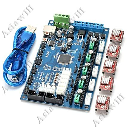 Asiawill® MKS Gen V1.2 3D Printer Control Board with USB ...