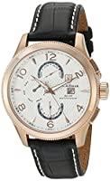 S. Coifman 'Men's' Swiss Quartz Stainless Steel and Leather Watch, Color:Black (Model: SC0109)