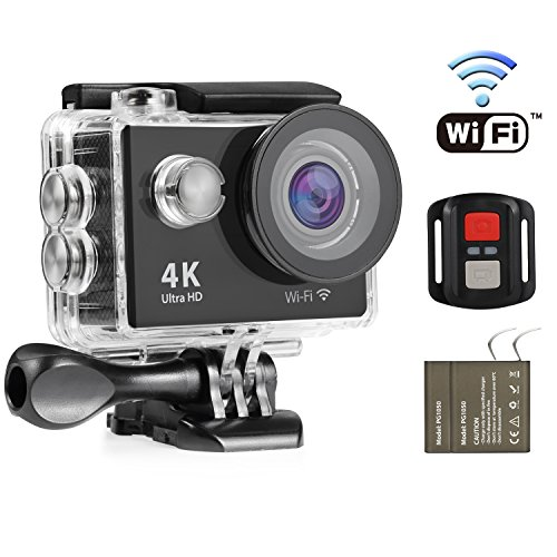 Nexgadget 4K WIFI Action Camera, EXPLORER4 Series, Waterproof DV Camcorder 12MP 170 (Olympus Fisheye Camcorder)