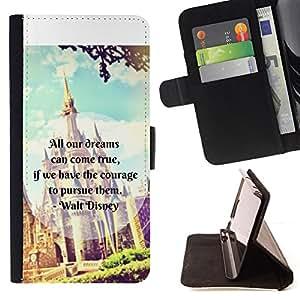 FANTASY KIDS CHILDREN'S CASTLE FAIRYTALE TEXT/ Personalizada del estilo del dise???¡Ào de la PU Caso de encargo del cuero del tir????n del soporte d - Cao - For Samsung Galaxy S6