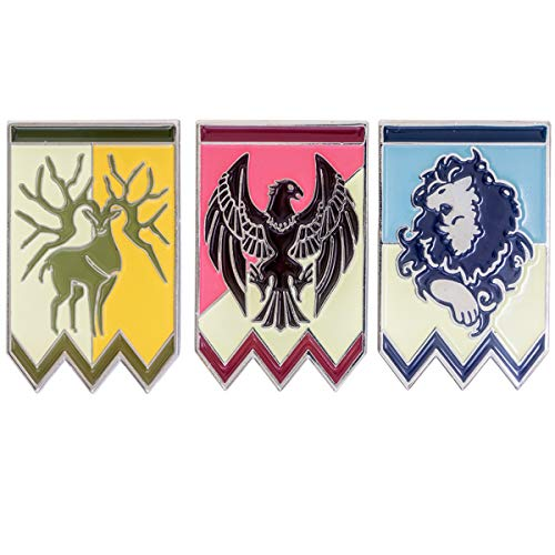 Xcostume Fire Emblem Three Houses Pins Protagonist Badges 3pcs Cosplay Costume Brooches for Game Accessories