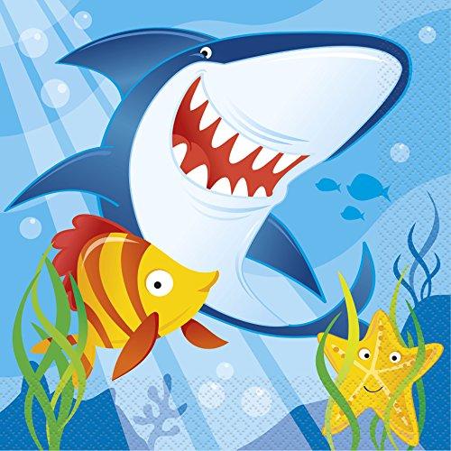 Ocean Shark Party Napkins 16ct