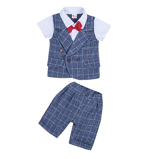 Carolilly Conjunto Traje para Bebé Suit de 3 Piezas para ...