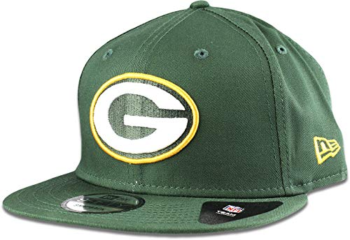 New Era Green Bay Packers Hat NFL Dark Green 9FIFTY Snapback Adjustable Cap Adult One Size (Green Bay Packer New Era Hat)
