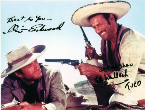Eastwood Movie Photo - Clint Eastwood & Eli Wallach in the Good, the Bad and the Ugly Signed Autographed 8 X 10 Reprint Photo - (Mint Condition)