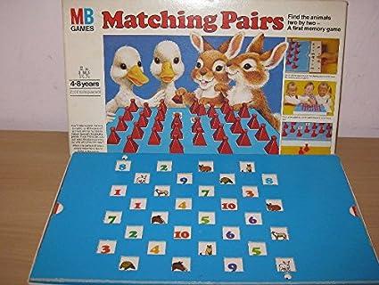 Raros Vintage matching Pairs juego de niños-juegos completos MB 1981 Nice Cond.: Amazon.es: Juguetes y juegos
