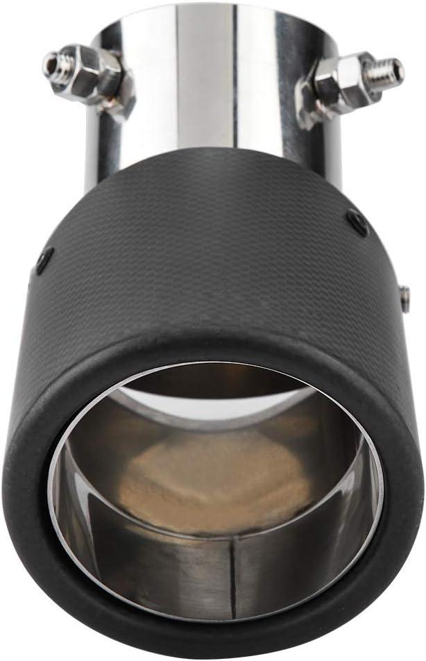 Leinggg Tubo de Escape del Coche Estilo de Fibra de Carbono Coche de Salida /única Ajustable Tubo de Escape Punta de silenciador Garganta de Cola 63-89mm
