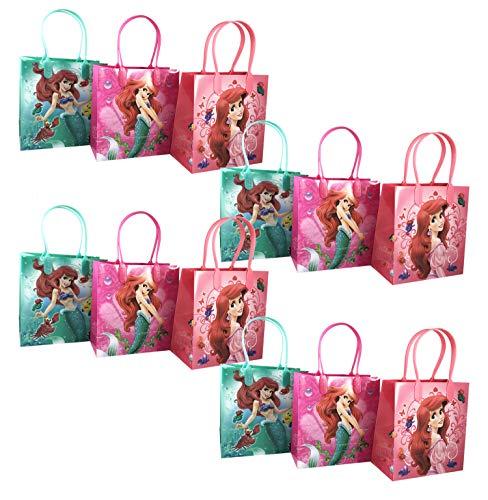 12pc Disney Little Mermaid Ariel Goodie Party Favor Gift Birthday Loot Bags -