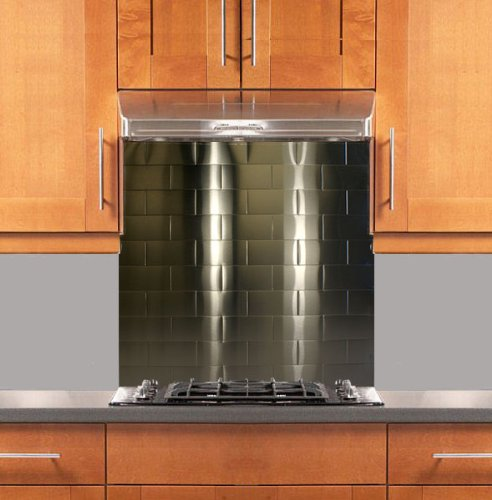 subway stainless steel backsplash various sizes hemmed