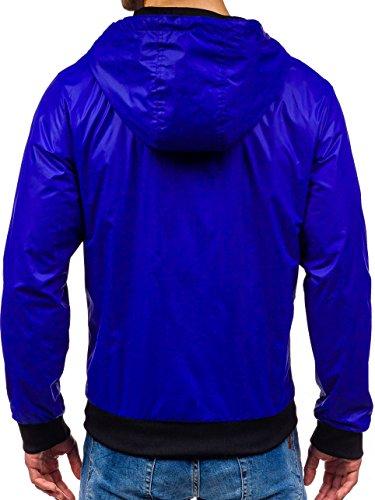 Uomo Motivo Cobalto Sport Blu Giacca Cerniera Casual Bolf 4d4 Cappuccio – PYwR0