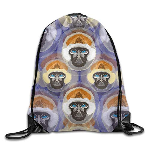 All agree Drawstring Bags Gym Bag Travel Backpack, Monkeys Watercolor, Womens Backpacks for Teen Kids from All agree