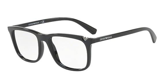5cb02cc35620 Eyeglasses Emporio Armani EA 3110 F 5017 BLACK at Amazon Men s Clothing  store