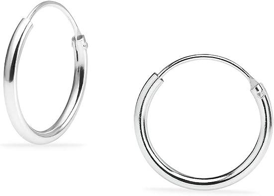 Hoop Earrings-Small Hoops Silver Earrings Small  Sterling Silver Hoop Earrings-Silver Hoop Earrings-Sterling Silver Silver Hoops