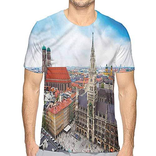 Jinguizi t Shirt Wanderlust,Munich City Sightseeing Printed t Shirt M]()