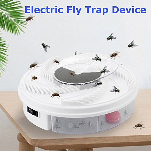 Trendia Hot sale Electric Fly Trap Device,USB Cable, Great for Summer Indoor Outdoor Home Use (White) by Trendia