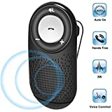 Bluetooth Car Speaker AUTO Power ON, Aigital Wireless in Car Speakerphone for Hands-Free