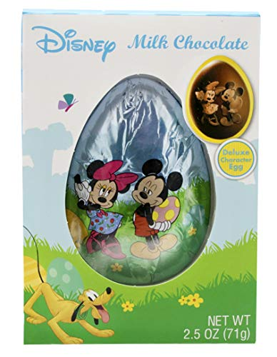 Disney Mickey and Minnie Mouse Deluxe Milk Chocolate Easter Egg, 2.5 oz -