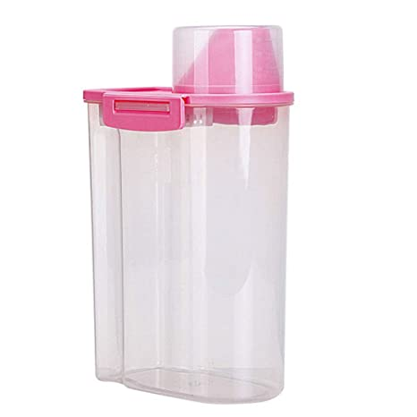 pushfocourag - Dispensador de Alimentos Secos, 2,5 L, Grande, para arroz