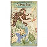Seas The Day Lifetime Address Book- 72 Page Spiral Comes with Stickers to Cover up Outdated Addresses