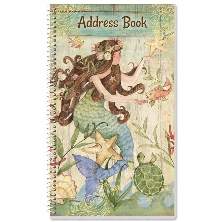 Seas The Day Lifetime Address Book- 72 Page Spiral Comes with Stickers to Cover up Outdated Addresses by Current