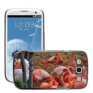Just Phone Cover Etui Housse Coque de Protection Cover Rigide pour // M00139678 Pink Flamingo naturaleza animal de la // Samsung Galaxy S3 S III SIII i9300