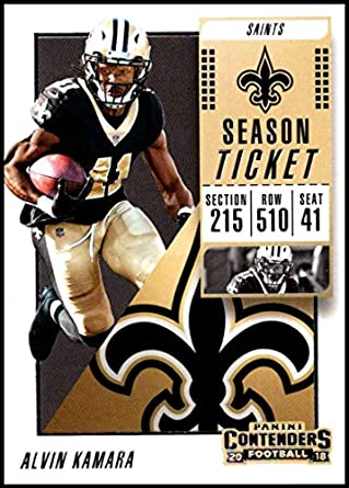 826ef2075 2018 Panini Contenders Season Tickets  35 Alvin Kamara NM-MT New Orleans  Saints Official