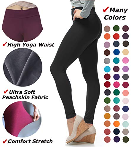 LMB Yoga Leggings Buttery Soft Material - Variety of Colors - Black from LMB