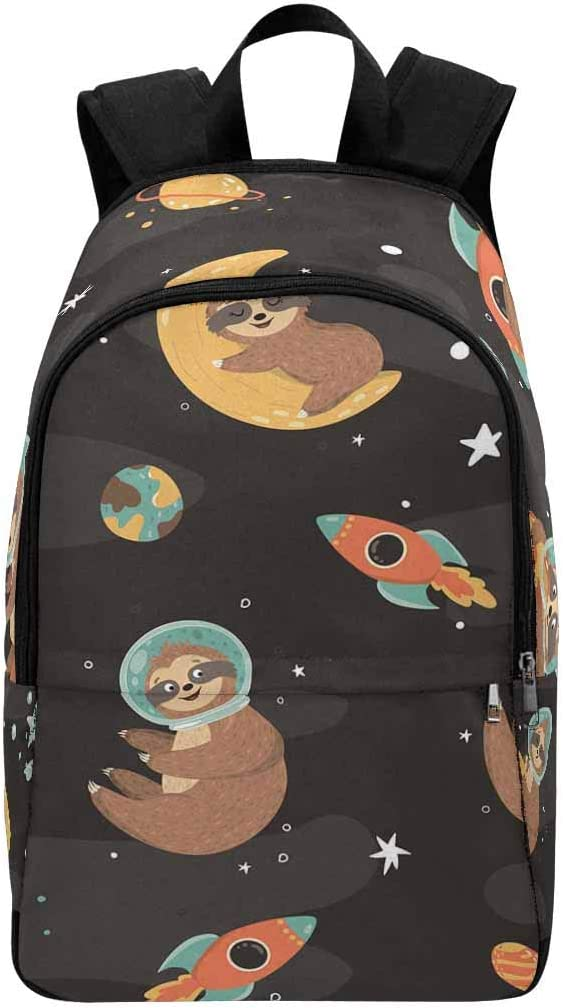InterestPrint Galaxy Space Sloth Custom Casual Travel Laptop Backpack Bookbag Daypack