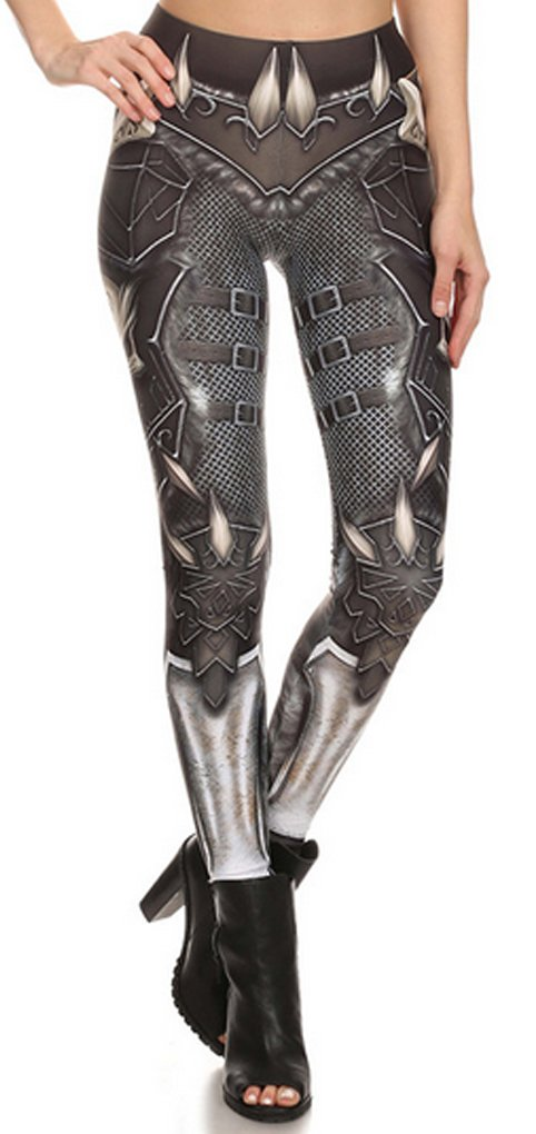 Thenice Women's Monster armor elasticity Leggings Pencil Pants Vest suit (XL, Leggings)