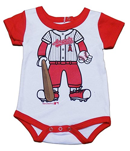 Los Angeles Angels Newborn Infant Red White Uniform Full Body Graphic Creeper (0/3 Months)