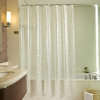 Uforme Eco Friendly 14 Gauge PVC Shower Curtains Mildew Resistant And  Waterproof, Durable Bathroom Curtain Liner With Hooks, Mosaic Clear, Stall  Size, ...