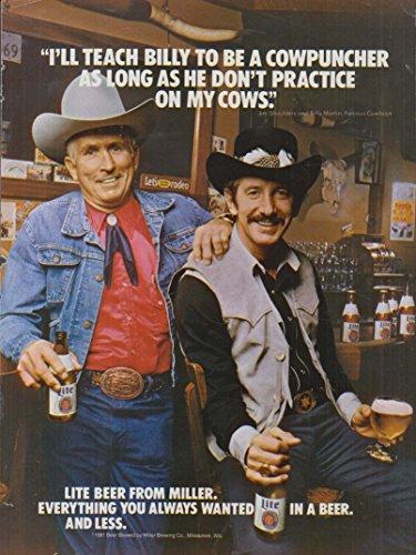 (Jim Shoulders & Billy Martin for Lite Beer from Miller ad 1981)