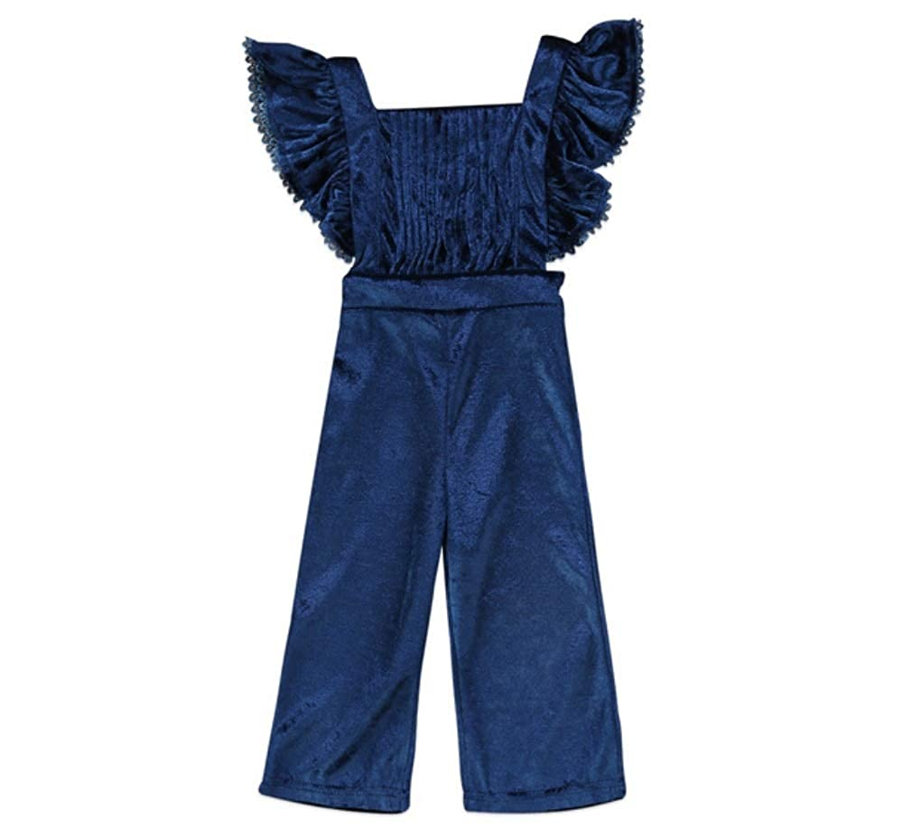 Mama Loves Toddler Girls Rompers and Jumpsuits Velvet Bib Pants Backless Outfits for Toddler Girls
