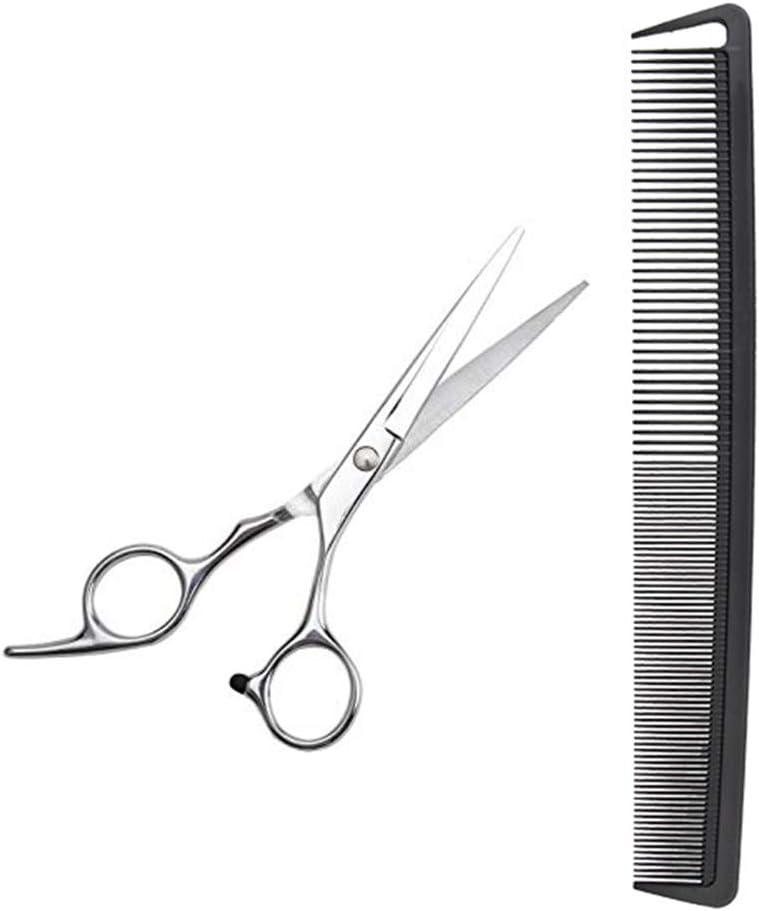 Peine de peluquería de Auony, grueso y fino, con tijeras profesionales para cortar el pelo