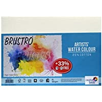 Brustro Artists Watercolour Paper, A5 Size, 25% Cotton, CP, 300 GSM, 18 + 6 Sheets Free (Pack of 2)