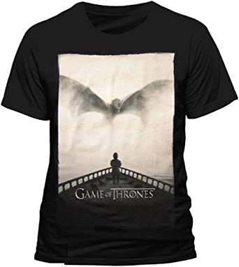 Juego de Tronos - Tyrion Lannister Dragon Silhouette - Camiseta Oficial Hombre - Negro, Small: Amazon.es: Ropa y accesorios