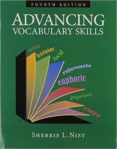 Amazon advancing vocabulary skills 9781591941934 sherrie l advancing vocabulary skills 4th edition fandeluxe Gallery