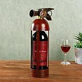Wine Holder Red Wine Rack Iron Modern American Fire Extinguisher Wine Stands Wine Stands Decoration Bar Bar Decorations Crafts Wine Racks
