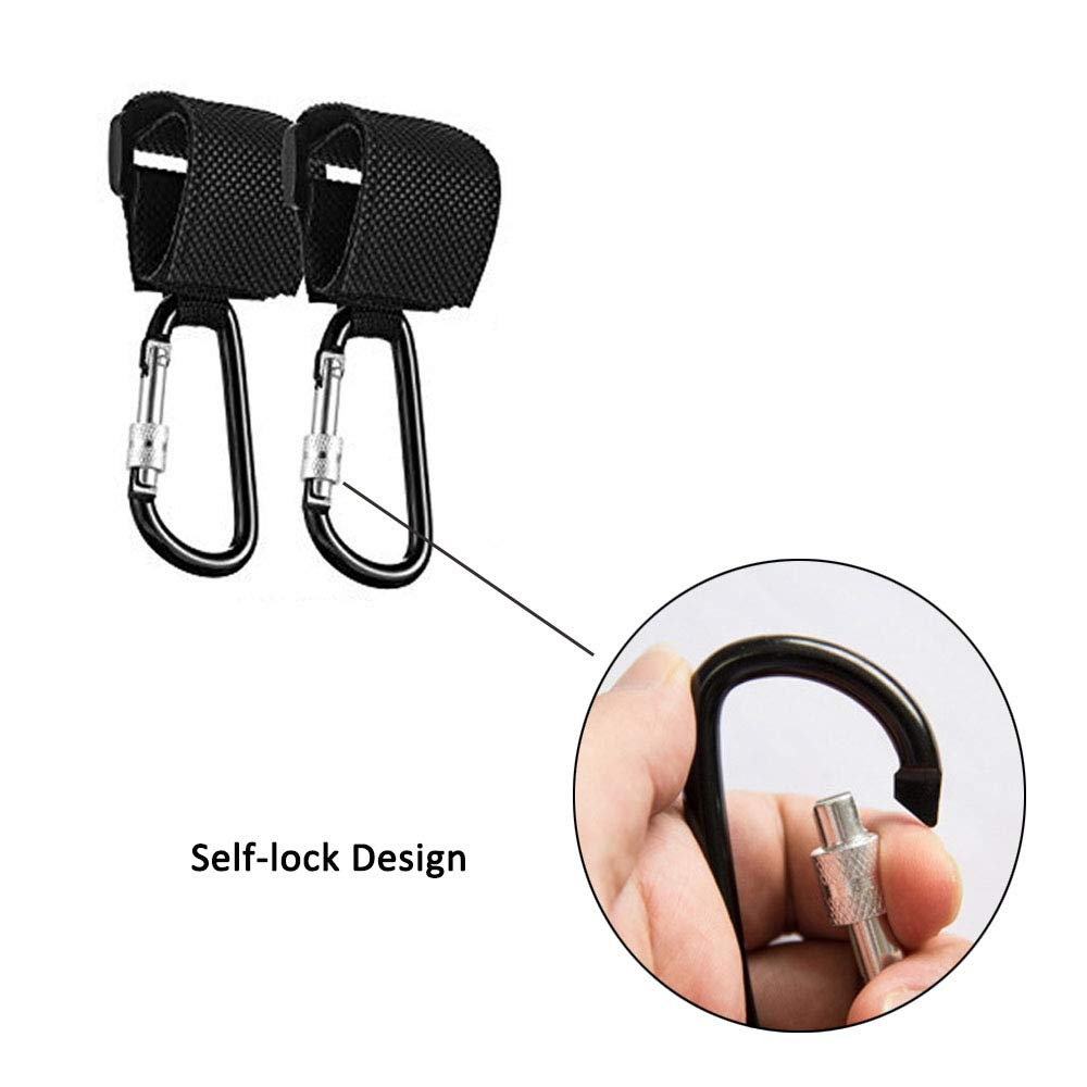 Purse 4 Pack Stroller Hooks Clothing Oneup Multi Purpose Stroller Hooks Clips Hanger for Baby Diaper Bags Grocery Bag