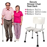 Bath Shower Bench, Bathroom Home Medical Aid Chair Bench for Elderly, Disable or Injury (18.9 x 13inch)