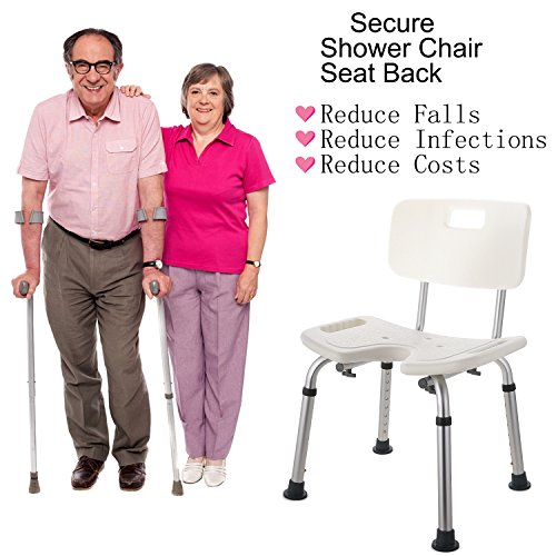Bath Shower Bench, Bathroom Home Medical Aid Chair Bench for Elderly, Disable or Injury (18.9 x 13inch) by Kaluo