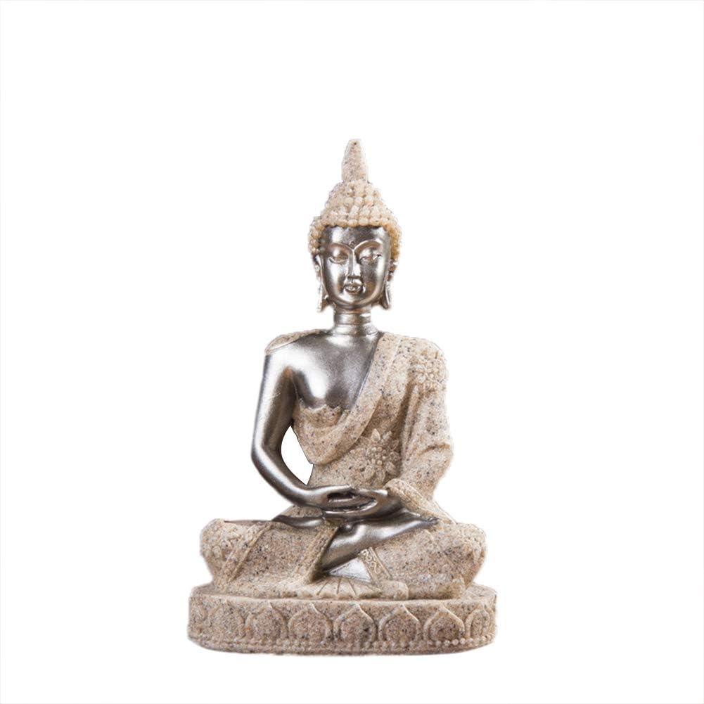 Cicony Assis Statues de Bouddha Petites Figurines de Bouddha en M/éditation en R/ésine pour Le Bureau et la D/écoration Int/érieure